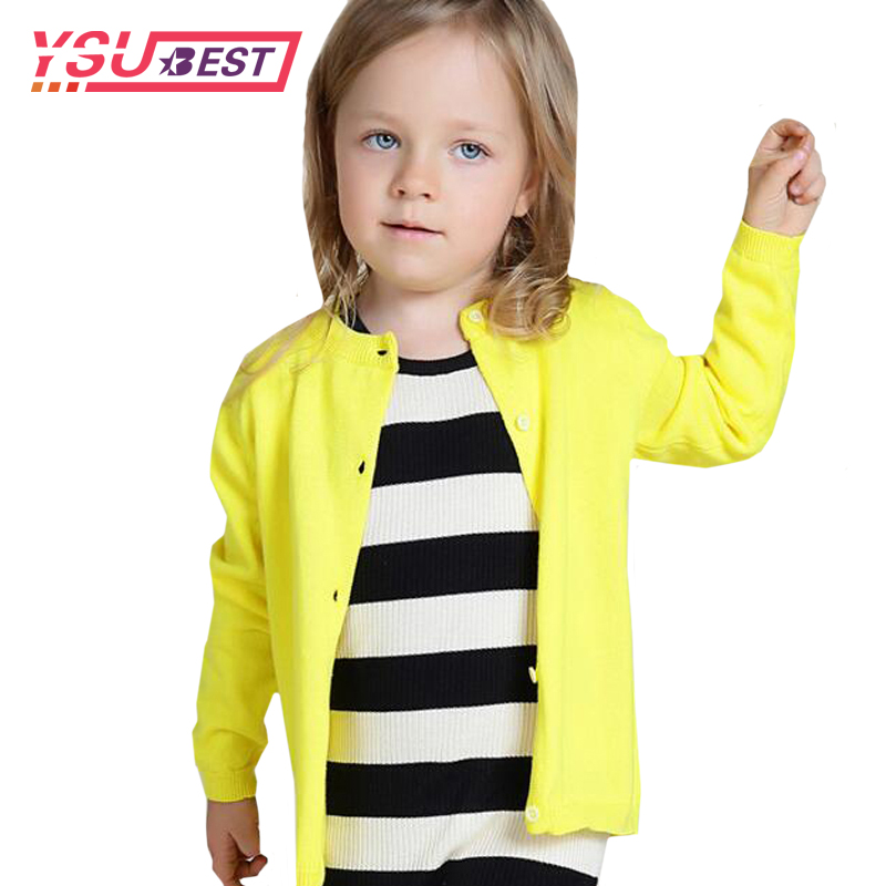 2018 Baby Children Clothing Boys Girls Candy Color Knitted -9209