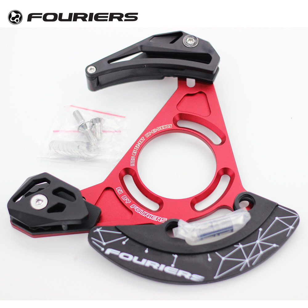 Fouriers Enduro DH kettinggeleidingskettingen FR XC Bashguard 32T-38T Single Speed ​​Device Catcher Keeper Spec ISCG ISCG05