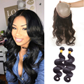 Indian 360 Lace Frontal With Bundles 360 Lace Frontal Band With 2 Bundles Body Wave 8a Pre Plucked 360 Frontal With Bundles