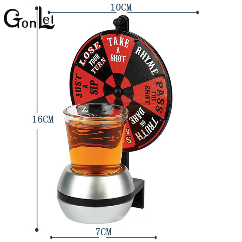 GonLeI creative Drink Turntable Toys Bar Entertainment Tool Party products arrow funny gifts spin the shot game action figure