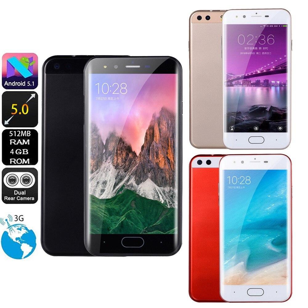 5,0 pulgadas Dual HDCamera Smartphone para Android IPS Pantalla Completa GSM/WCDMA 4 GB pantalla táctil WIFI Bluetooth GPS 3G llamada móvil