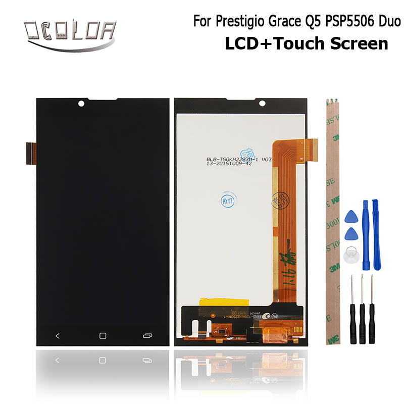 imágenes para Para Prestigio Gracia Q5 PSP5506 Duo Pantalla LCD Display y Pantalla Táctil Original Digitalizador Asamblea del Reemplazo + Herramientas + Adhesivas