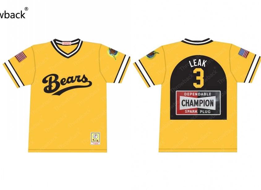 Bad News Bears Jackie Earle Haley #3 Kelly Leak Throwback Movie Baseball Jersey S-5XL Stitched все цены