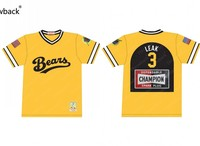 Bad News Bears Jackie Earle Haley #3 Kelly Leak Throwback Movie Baseball Jersey S 5XL Stitched