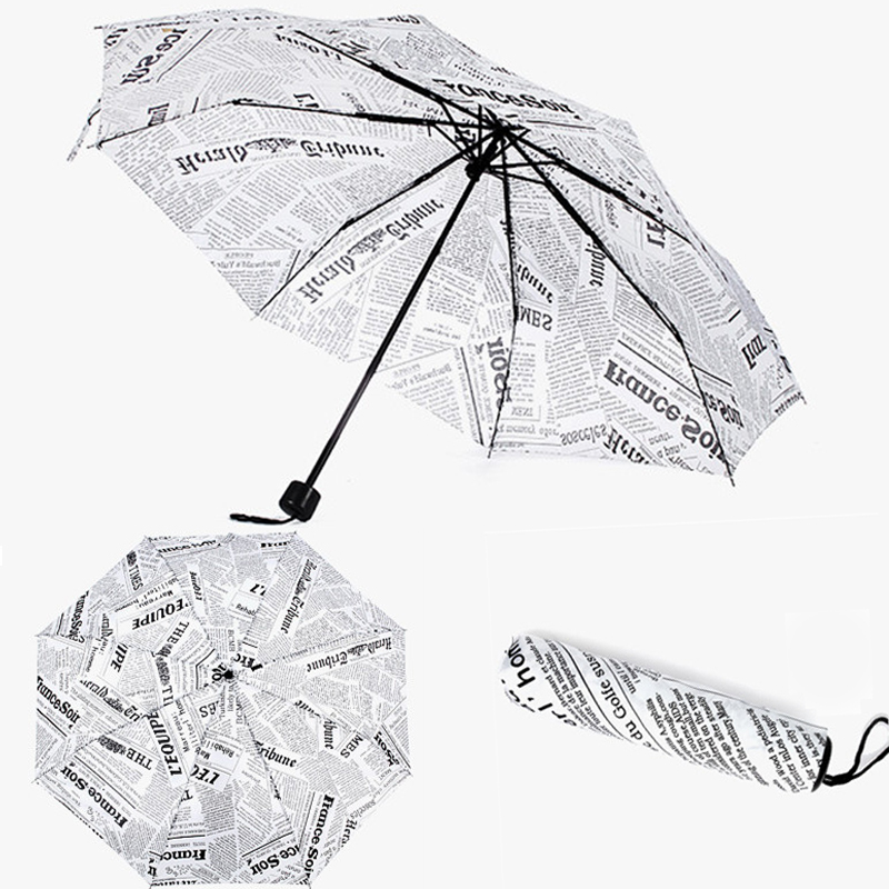 Umbrellas Rain Parasols Umbrella Novelty Items Pencil Newspaper
