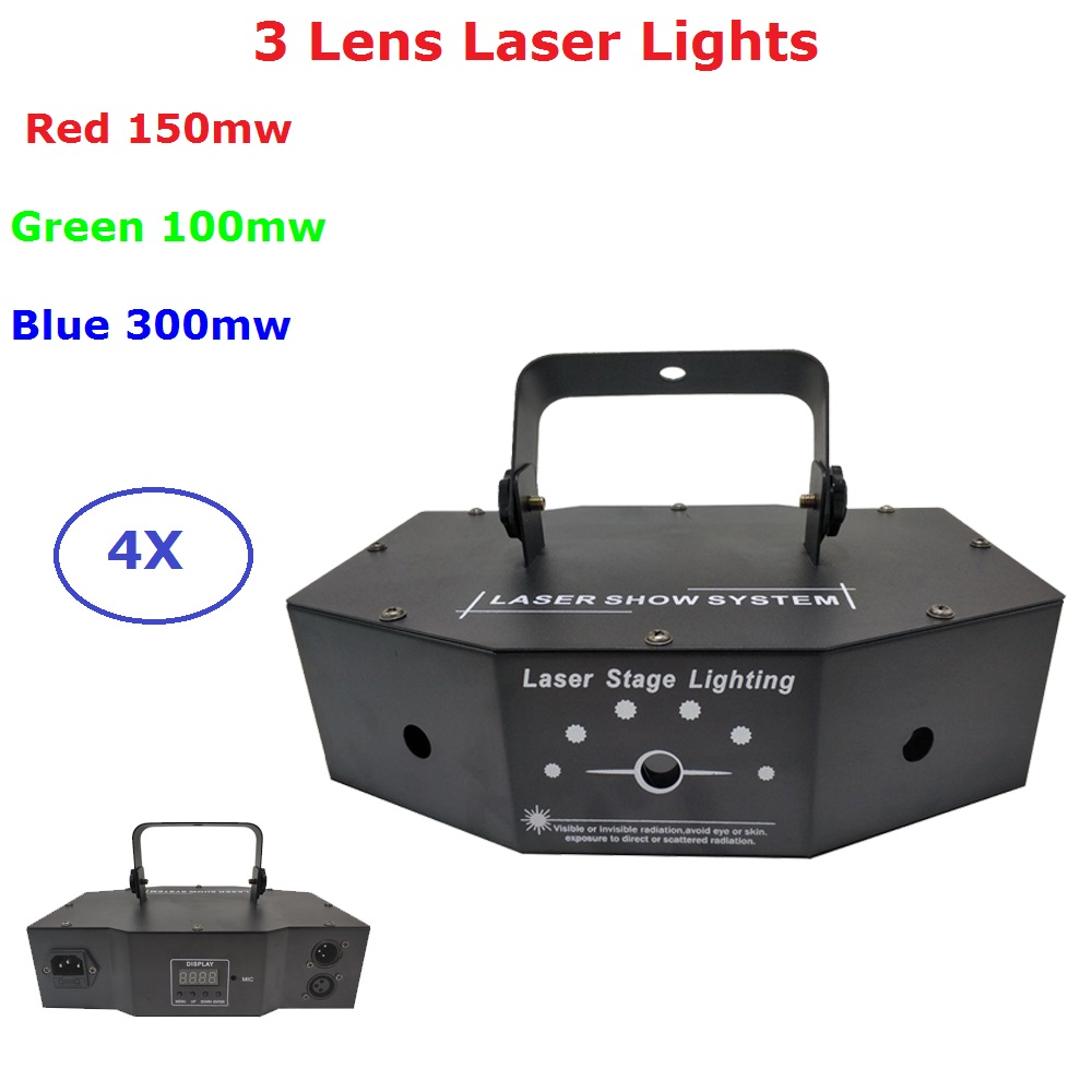 4 Units 3 Eyes 500MW Red Green Blue RGB Multi Color DMX Laser Beam Animation Scan DJ Disco Party Stage Decoration Lazer Lights 4 Units 3 Eyes 500MW Red Green Blue RGB Multi Color DMX Laser Beam Animation Scan DJ Disco Party Stage Decoration Lazer Lights