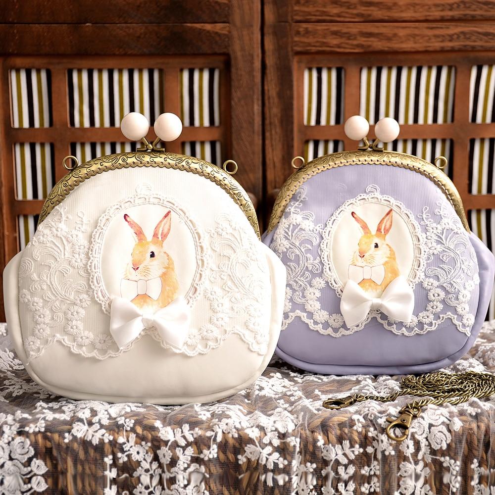 Princess sweet lolita bag Original shell bag lovely adorable female chain small bag rabbit cute gold Satchel fashion bag CC133 цена 2017