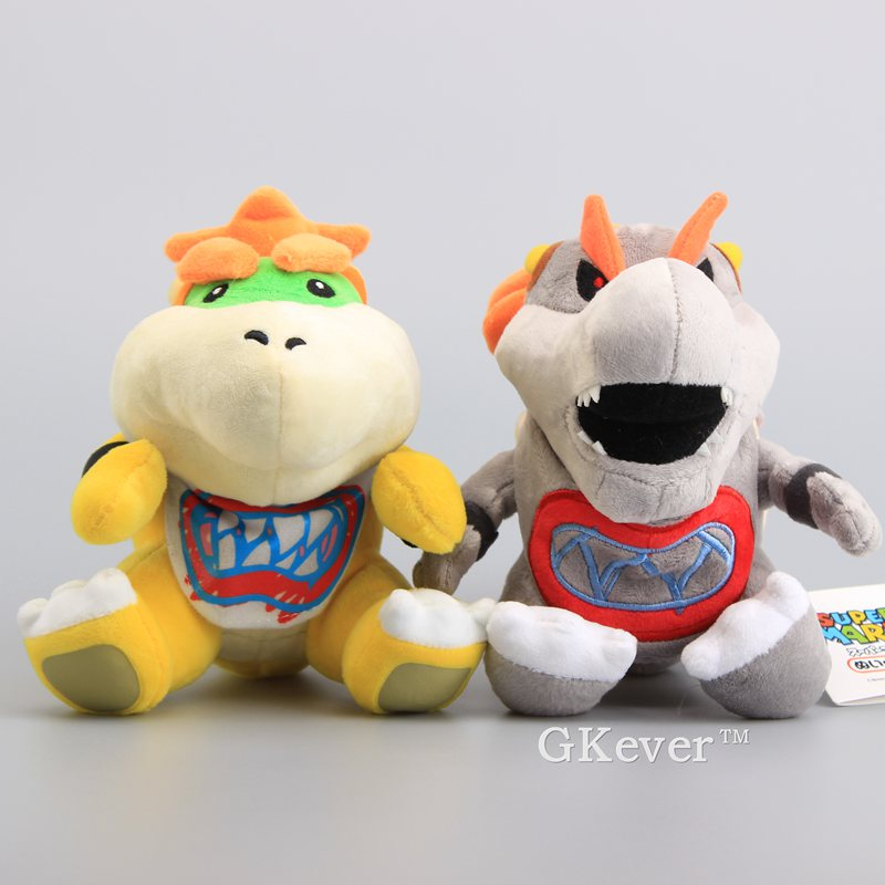 Plush Stuffed Doll Toy 2pcs Super Mario Brothers Bowser King Koopa and Jr