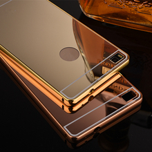 P8 Lite 2017 Mirror Aluminum Phone Case For Huawei P8 LITE 2017  Anti-knock Luxury Metal Frame Ultra Slim Acrylic PC Back Cover