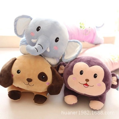 80cm New Arrival! Free shipping cute plush animal Pillow Dog Elephant Monkey Five kinds of styles 1pcs free shipping 80cm large super cute plush toy dog bulldog husky shiba pug pillow down cotton filling as a gift to the children and friends