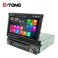 1 din Quad-Core 7 inch Universal Automatic Screen Car Radio Monitor DVD player with car gps Wifi FM Bluetooth
