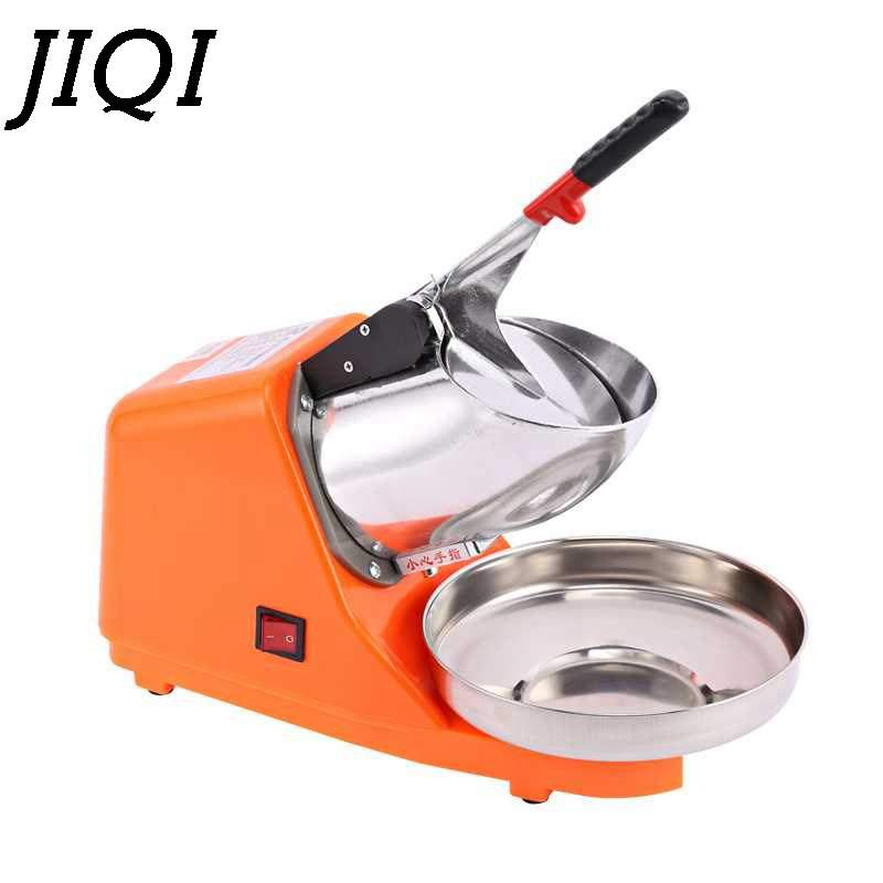 JIQI 300W Electric Ice Crusher Smoothie Rustproof Shaver Machine Hygienic Fast Ice Crusher For Home Restaurant