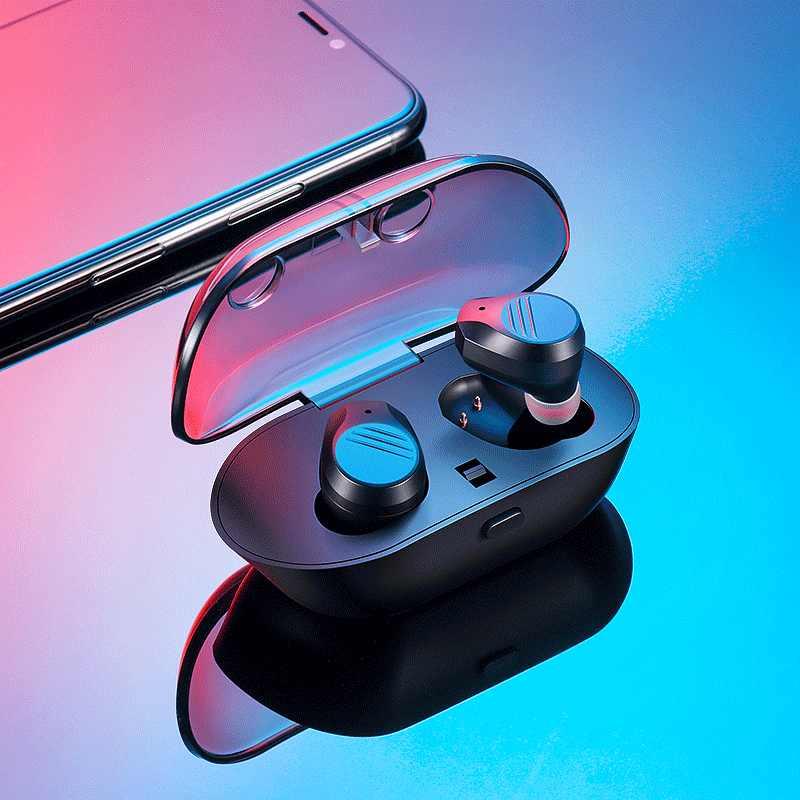 アビゲイル tws 5.0 bluetooth ヘッドフォン 3D ステレオワイヤレスイヤホンミニ防水インナーイヤー型コードレスデュアルヘッドセット電話用 xiaomi