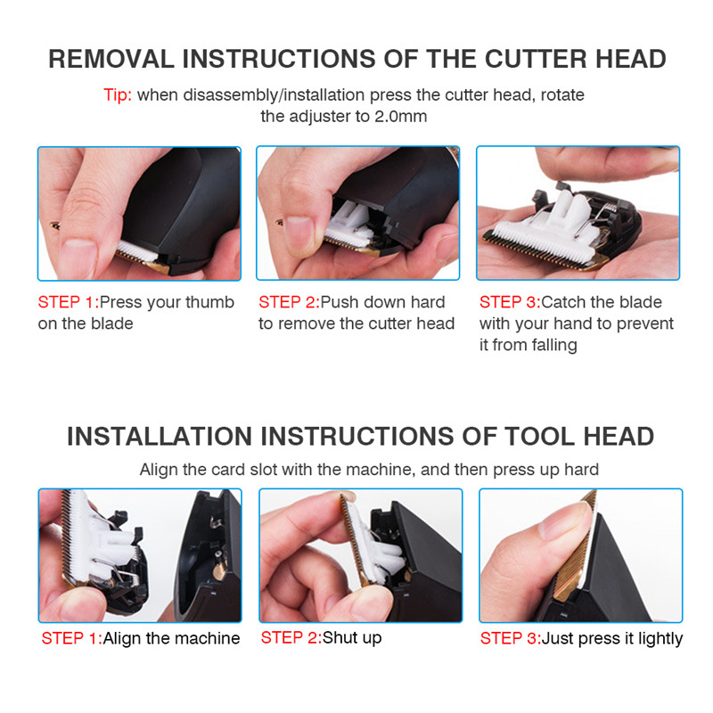 Tondeuse à cheveux électrique professionnelle tondeuse à cheveux pour hommes enfants et barbes rasage de cheveux coupe de cheveux Machine Rechargeable - 5