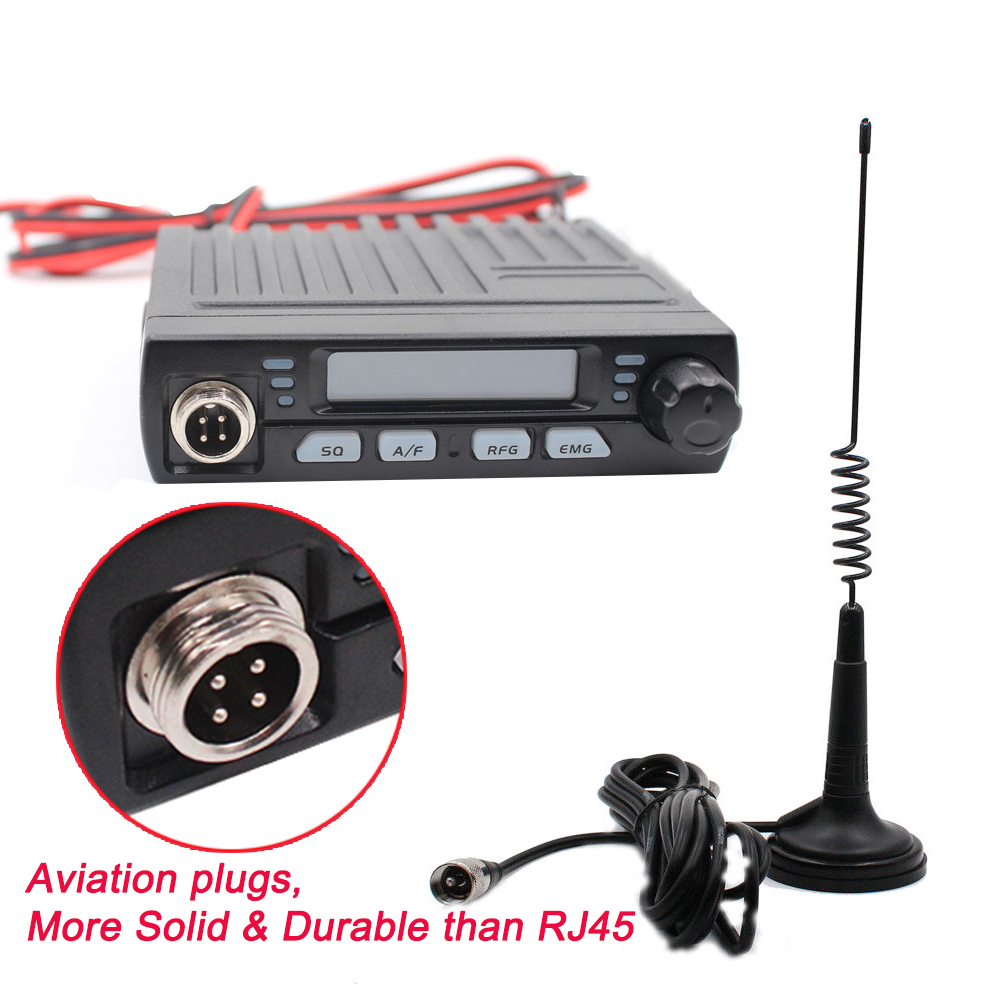 AC-001 Ultra Compact AM/FM Mini Mobie 8 w CB Radio 26 mhz 27 mhz 10 mètre Amateur Mobile radio Albrecht AE-6110 Citizen Band Radio