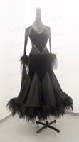 Ballroom Dance Dress New Stage dancing dress Waltz dress ostrich with feathers ballroom dancewear standard dancing costume