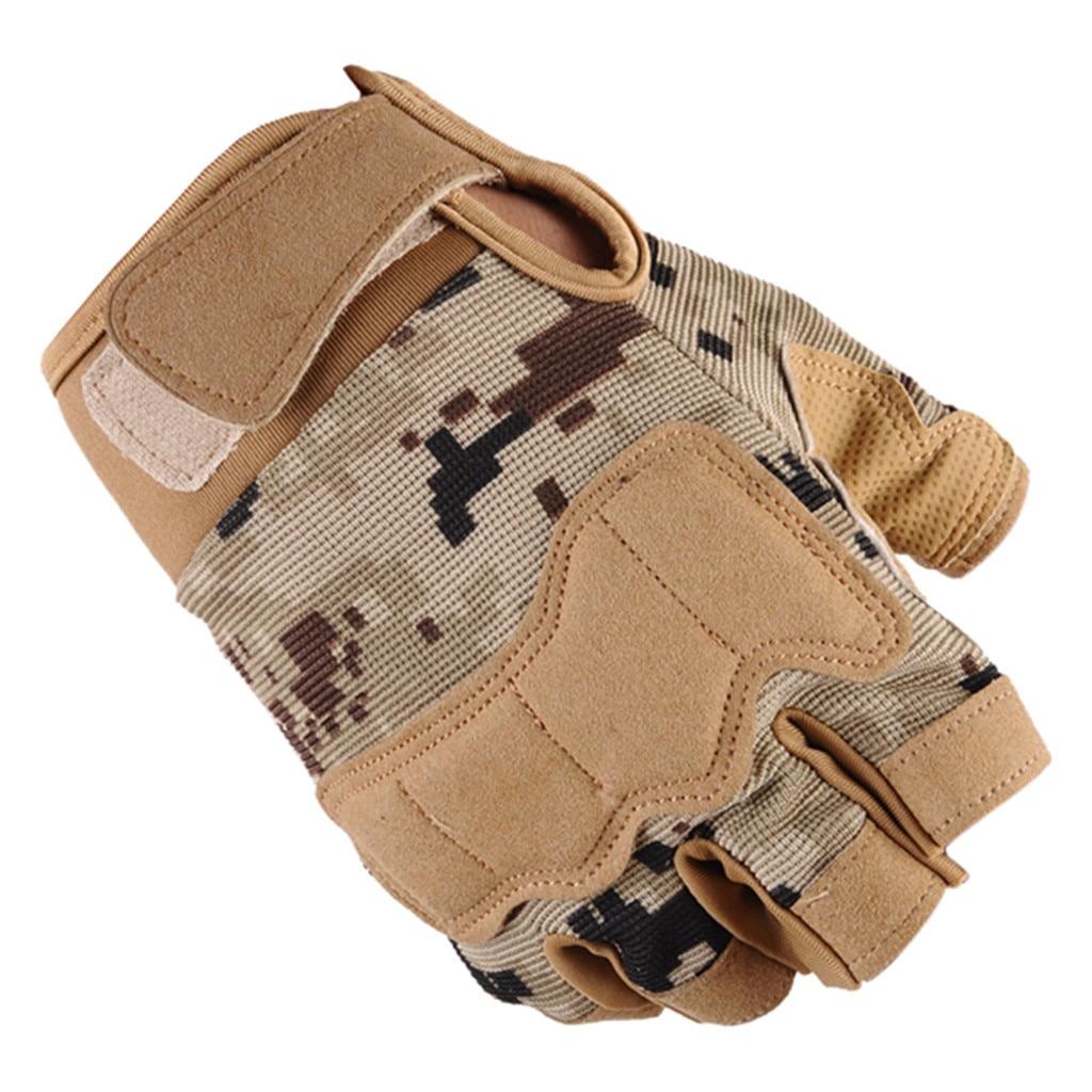 Tactical Fitness Gloves Unisex Half Finger Outdoor Sports Mountaineering Ride Mitten Leather Gloves For Men тактические перчатки