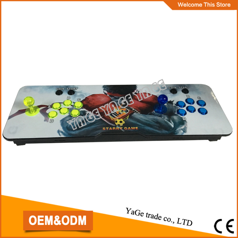 New arrival mini game machine console with multi games 680 in 1 game board, Pandora's Box 4S  DIY video fighting game console sanwa button and joystick use in video game console with multi games 520 in 1