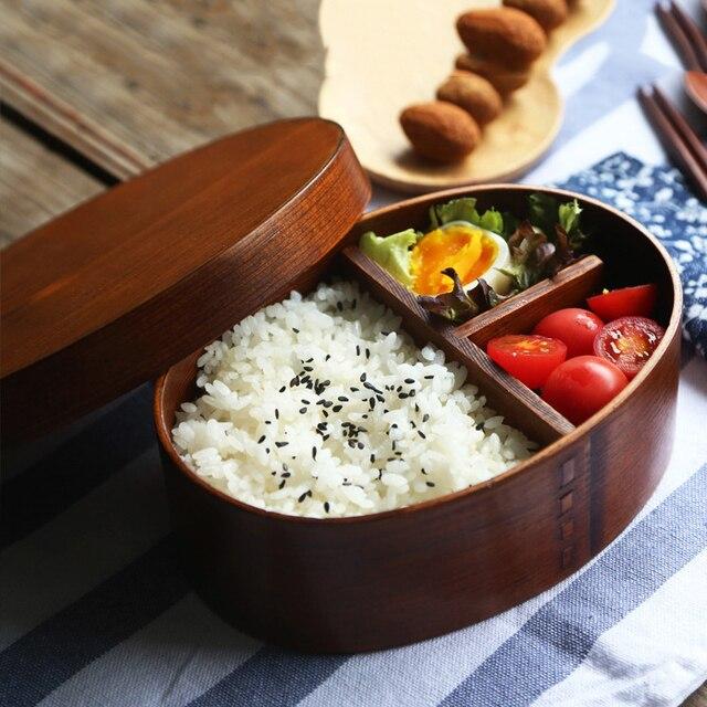 GIEMZA деревянный Коробки для обедов 1 шт. эко древесины посуда ужин box Adult диета случае руководство сухой паек суши один Слои 600 мл/700 мл