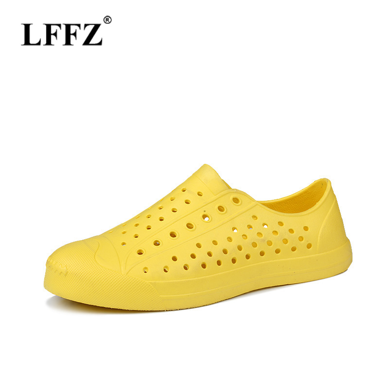 Lzzf 2018 Summer Flat Women Shoes Beach Sandals Hollow Jelly Garden Breathable Hole Cutout Slip on Unisex Couple Shoes Sandalias summer 2017 new color crystal bling sandals woman anti skid hole jelly shoes flat garden beach rain shoes
