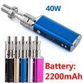 Мода OLED Электронная Сигарета 8 В/40 Вт 2200 мАч Box Mod Kit Испаритель Батареи в Электронной Сигареты Испаритель кальян