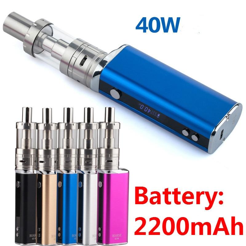 Fashion OLED Electronic Cigarette 8v 40W 2200mah Box Mod Kit Vaporizer Battery in E Cigarette Vaporizer