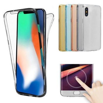 Luxury Soft 360 Full Cover Silicone Case for iPhone X XR XS Max 6 6S 7 Plus 5 5S SE Soft TPU Phonee Cases for iPhone 8 Plus capa image