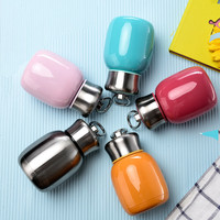 Free Shipping 200ML Mini Cute Coffee Vacuum Flasks Thermos Stainless Steel Travel Drink Water Bottle Thermoses