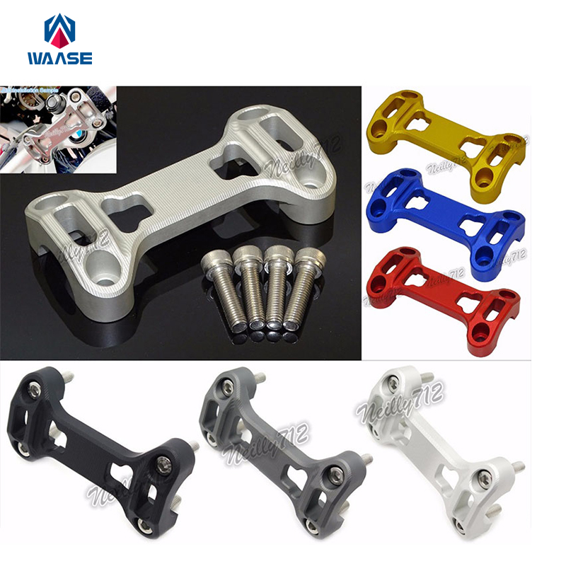Motorcycle Parts Handlebar Fat Bar Riser Clamp Top Cover Support For BMW R1200GS ADV GSA LC 2013 2014 2015 2016 for bmw r1200gs adv f800gs adv f700gs new motorcycle adjustable handlebar riser bar clamp extend adapter