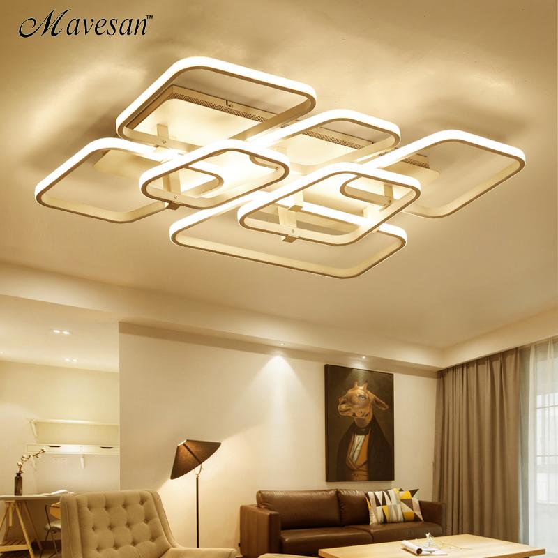 Led Deckenleuchten Fernbedienung Wohnzimmer Schlafzimmer Esszimmer Acryl Eisen Krper Innen Hause Montiert Lampe LeuchtenChina