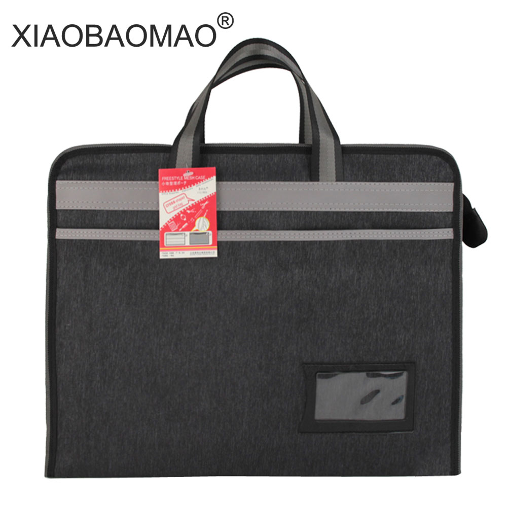 Oxford Paper Business Document Bag A4 waterproof zipper file bags Filing Meeting Bags office School Stationery deli business document bag school file folder filing bags side zipper pocket office school bags protable business briefcase