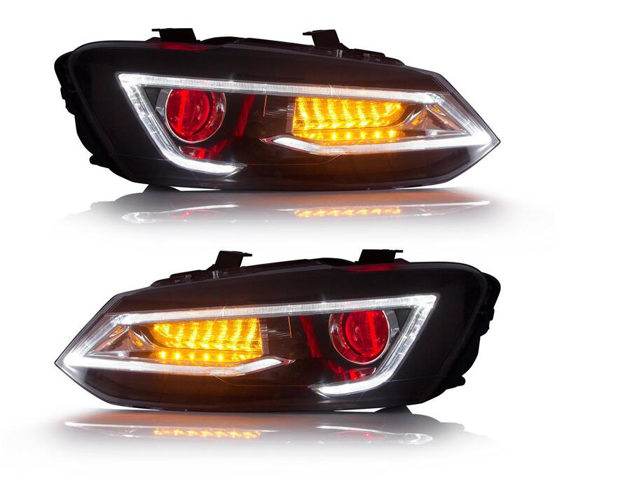 Car Styling Head Lights For POLO Headlight 2011~2017 Led Tail Lamp Stop Light,polo Rear Lamp DRL+Brake+Park+Signal Lights