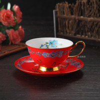 1Pcs Creative Afternoon Tea Cup Plate Ceramic Cup Birthday Gifts Coffee Cup Household Items Home Decoration