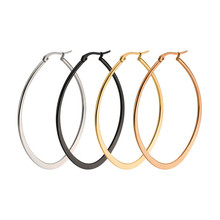 Fashion hoops earring female silver circle earrings women gold round stainless steel jewelry men large accessories gifts
