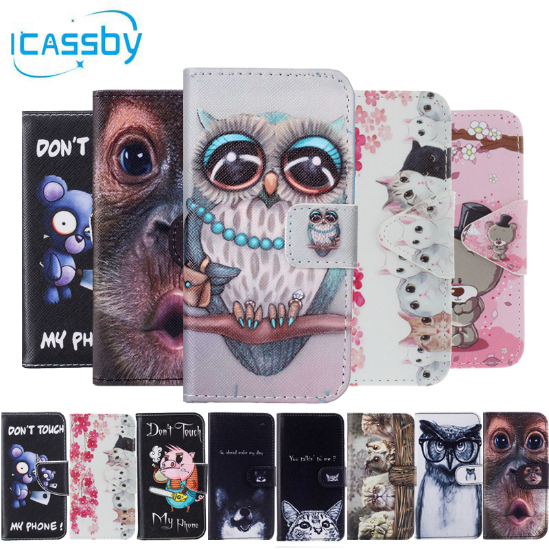 Sfor Coque Huawei Y5 Ii Case Cute Panda Cat Leather Flip Wallet Phone Cases For Huawei Y5 Ii 2 Y6 Ii Compac Cover Etui Capinha Phone Bags & Cases