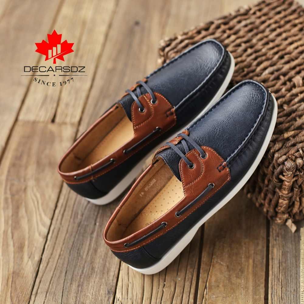 Мужские лоферы 2019 г. Новая мужская повседневная обувь мужские модные мокасины, водонепроницаемые Мокасины, Мужская брендовая удобная обувь без шнуровки, Мужская обувь для отдыха