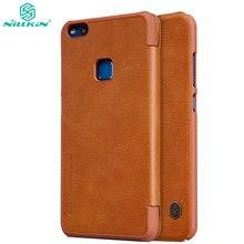 Nillkin Флип Чехол Huawei P10 Lite кожа телефон сумка Роскошные защитной оболочки защитный чехол для Huawei P10 Lite назад Крышка