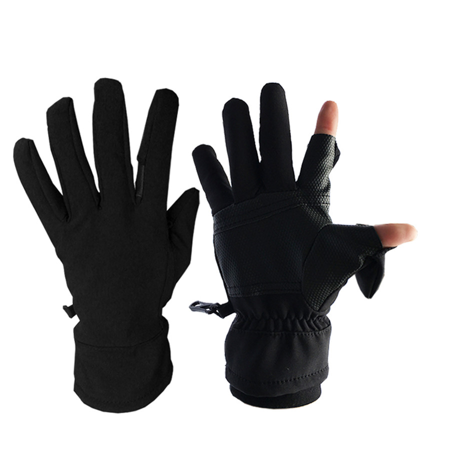 GTHYUUI Outdoor Gloves Windproof Work Cycling Winter Touch Screen Fleece Sports Full Finger Gloves