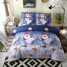 JaneYU 3d Print Christmas Merry Christmas Santa Claus Bed Three Pieces Duvet Cover Sets Duvet Cover+Pillowcase