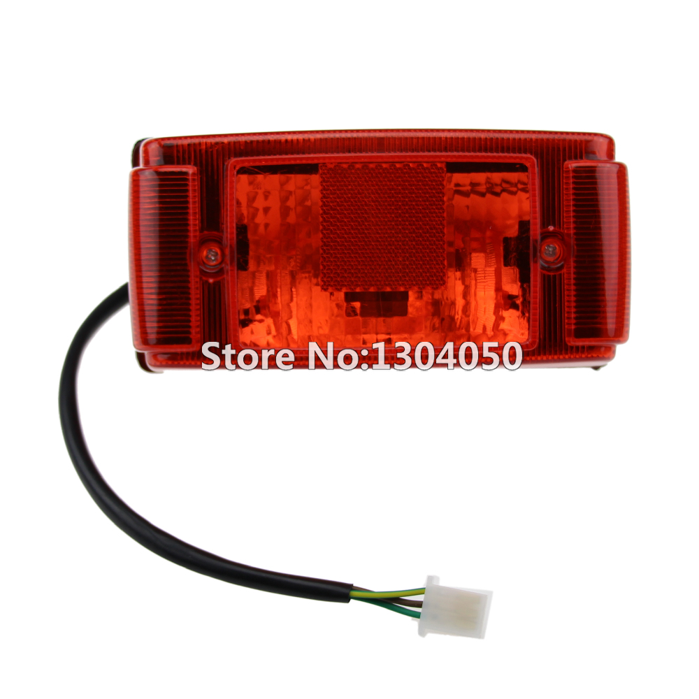 12v ATV Brake Tail Light Taillight 3 Wires For 50cc 90cc 110cc 125cc 150cc:  Chinese
