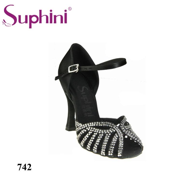 Free Shipping Suphini Salsa Latin Shoes10cm Heel Quality Guarantee Black Woman Salsa Dance Shoes carlisle san ramekin salsa dish 5 ounce