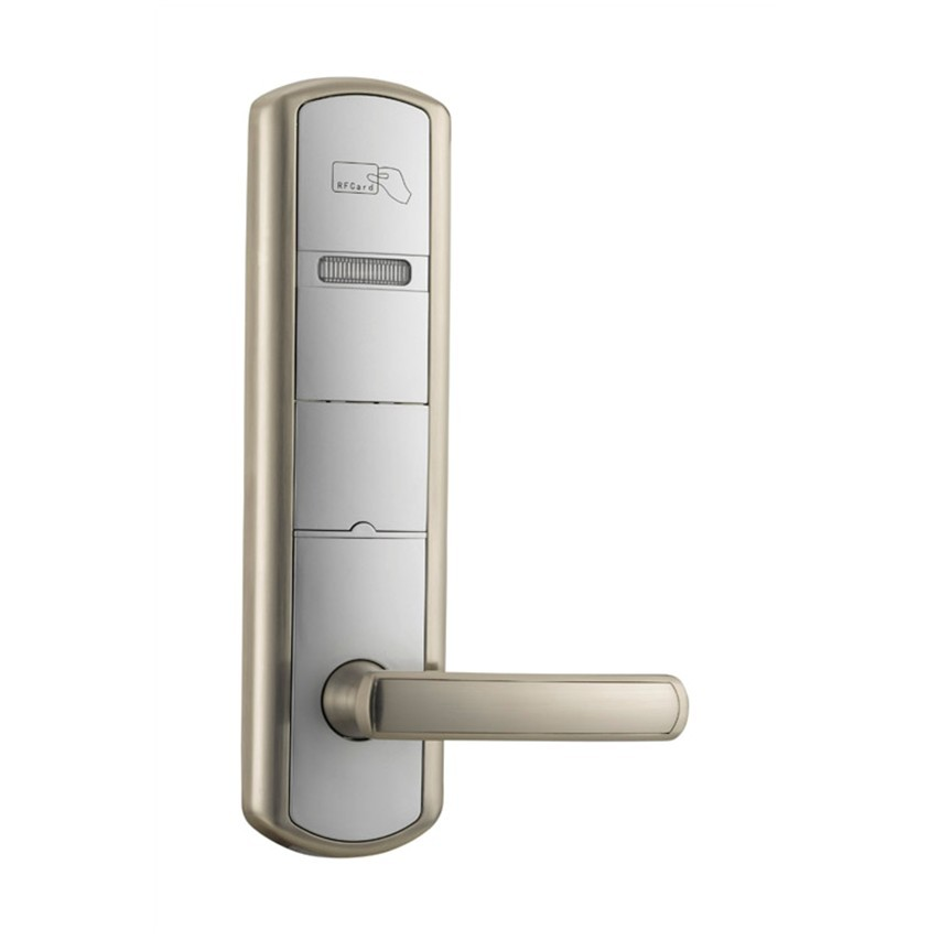 hotel lock system,RFID T5577 hotel lock, sample comes with a test T5577 card ,Zinc alloy forging, CA-8029 crystal glass panel smart wireless switch eu wall switch 110 250v remote touch switch screen wall light switch 1gang 1way black