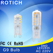 led lamp G9 bulb 220v luz light smd 2835 chip 3w 5w ampoule luminaria spotlight bombillas lampadas lights for home