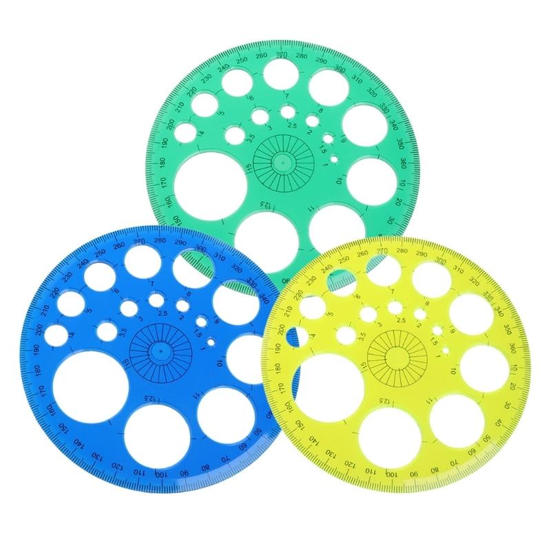 360 градусов транспортир все круглые линейки шаблон Круг школьные принадлежности для черчения