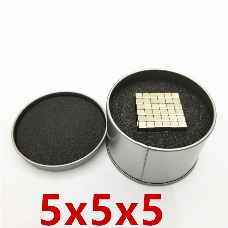 125/216/500/1000 stücke Magnet Blöcke 5mm 5x5x5 Magie Starke NdFeB buck Block Kreative Neodym Magnet Magneten 5*5*5mm 5x5x5mm
