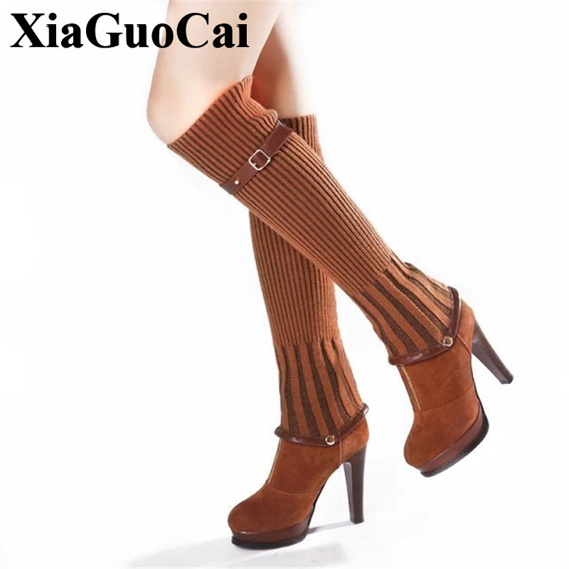New Arrival Over-the-knee Boots Women Shoes Autumn&winter High Heel Boots Fashion England Solid All-match Boots H613 new england textiles in the nineteenth century – profits