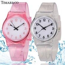 30 м Водонепроницаемый модные Повседневное прозрачные часы желе небольшой свежий Для детей мальчиков часы для девочек женское платье наручные часы Relojes