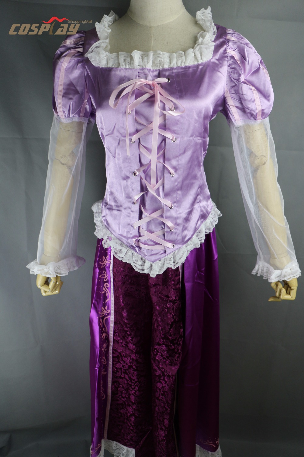 Adult Rapunzel Fancy Dress Anime Cosplay Costume Princess Fairytale Tangled