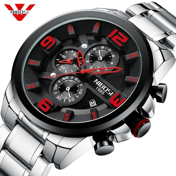 50pcs/lot DHL Free Shipping NIBOSI 2336 Men Watch Reloj Hombre Mens Watches Quartz Watch Big Dial Sport Watch Relogio Masculino
