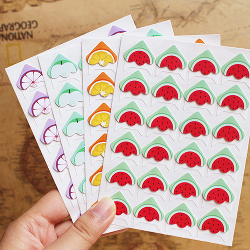 24 pcs lot diy fruit cartoon corner cute paper stickers for Hand work decoration